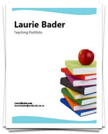 Laurie bader for Teaching portfolio template free